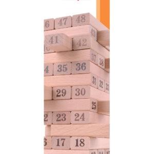 Jenga - wieża numeryczna aktywizująca umysł, dla seniorów, osób dotkniętych demencją, chorobą Alzheimera