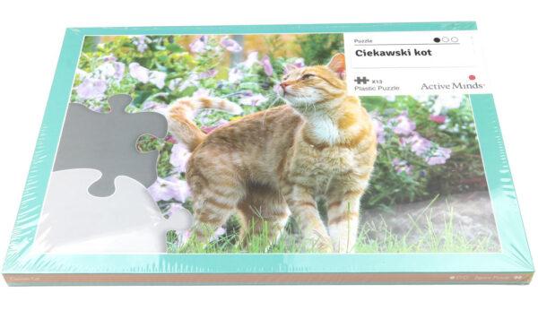 puzzle z kotem dla seniorów