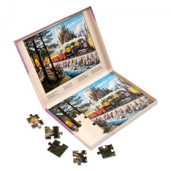 Puzzle dla dorosłych lokomotywa