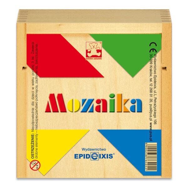 Mozaika - gra w drewnianym pudełku