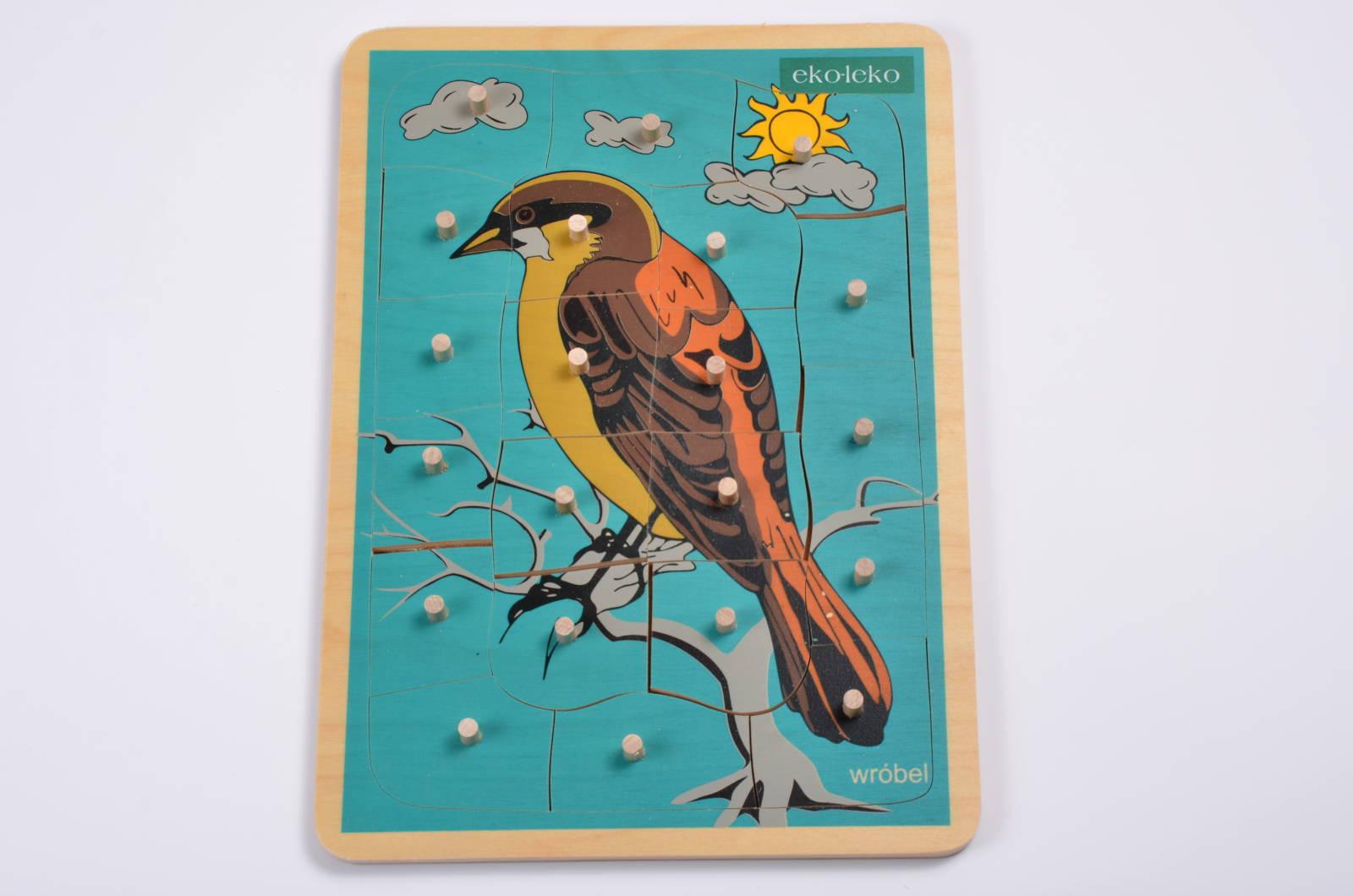 układanka z kółeczkami - ptak