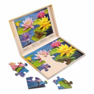 puzzle 13-elementowe z kwiatami